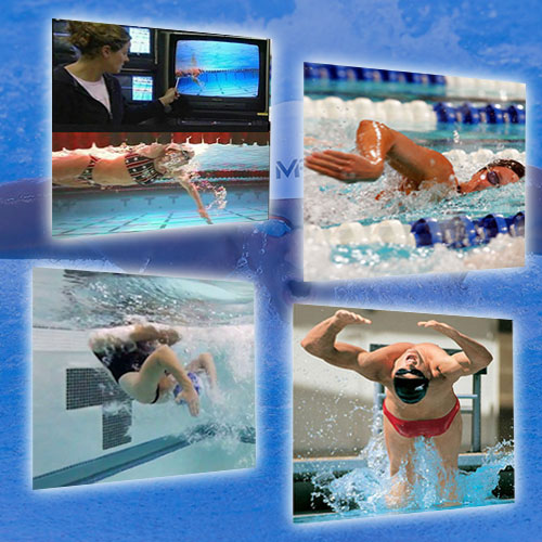 Swimming drills and technique. Michael Phelps, Lindsay Benko, Ed Moses , Aaron Peirsol, Kaitlin Sandeno and Erick Vendt